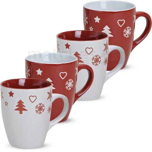 matches21 HOME & HOBBY Becher »Kaffeebecher 4er Set Weihnachtsdekor 10 cm«