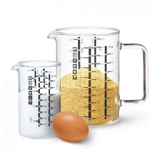 SIMAX Messbecher »Messbecher mit Henkel 2er Set 0,5 l + 1 l«, Glas
