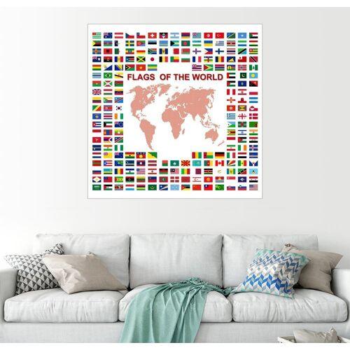 Posterlounge Wandbild, Flaggen der Welt