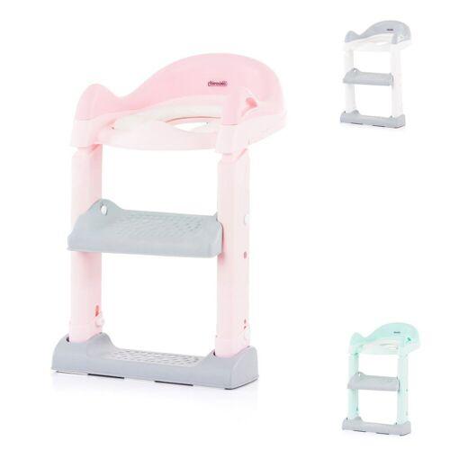 Chipolino Toilettentrainer »Toilettenaufsatz, Toilettensitz«, mit Leiter, Griffe, Fußstütze, kompakt, rosa