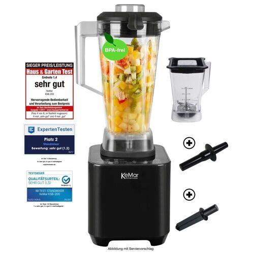 KeMar Kitchenware Standmixer KSB-200, 1500 W, 1500 Watt, Hochleistungsmixer, 2 Behälter inklusive, 6 automatische Programme, Touch Display, Pulse Funktion
