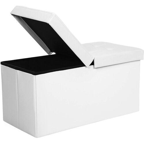 SONGMICS Sitzbank »LSF45WT LSF45BK«, 80 L Sitzbank Sitzhocker, weiß, Weiß