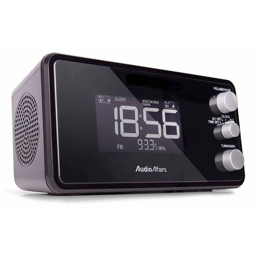 AudioAffairs »Radiowecker« Radiowecker (UKW/FM PLL, Radiowecker - Schwarz)
