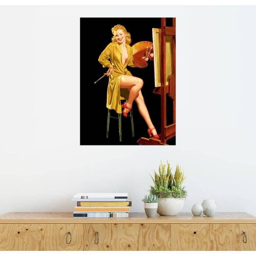 Posterlounge Wandbild, Pin up mit einer Farbpalette