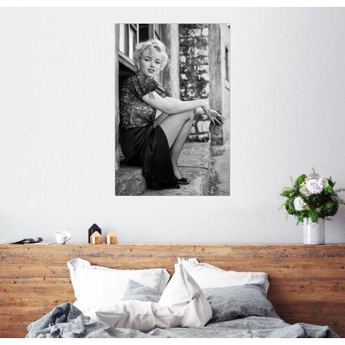 Posterlounge Wandbild, Leinwandbild Marilyn in einer Filmpause