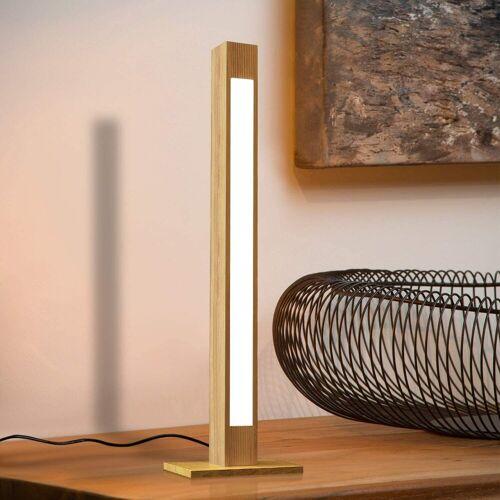 ZMH LED Tischleuchte »Tischlampe Holz 47CM Dimmbar Schreibtischlampe 5W Nachttischlampe Leselampe mit Stecker«