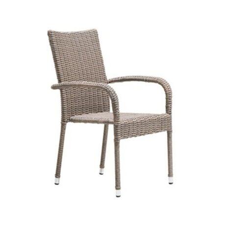 ebuy24 Gartenstuhl »2er Set Poser Gartenstuhl ohne Sitzkissen grau.«