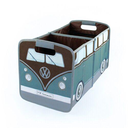 VW Collection by BRISA Faltbox »VW Bulli T1«, Organizer für den Kofferraum, Petrol/Braun