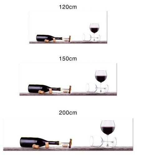 Küchenrückwand »Spritzschutz Küche Weinflasche«, (1-tlg), transparent