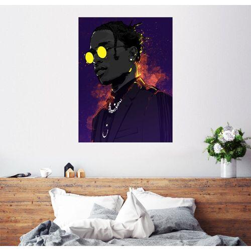 Posterlounge Wandbild, Premium-Poster ASAP Rocky