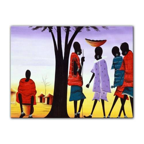 Bilderdepot24 Leinwandbild, Leinwandbild - Afrika Design II