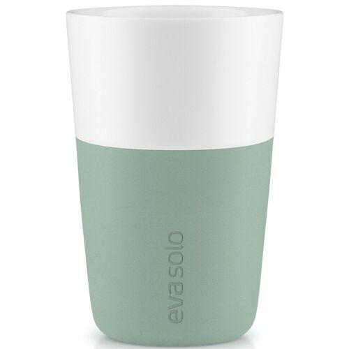 Eva Solo Becher »2 Stük Caffé Latte-Becher Faded green / Grün 360 ml Kaffeebecher«