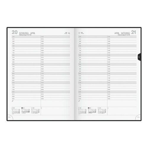 BRUNNEN Buchkalender, für 2021, 1 Seite = 1 Tag (Sa/So = 1 Seite)