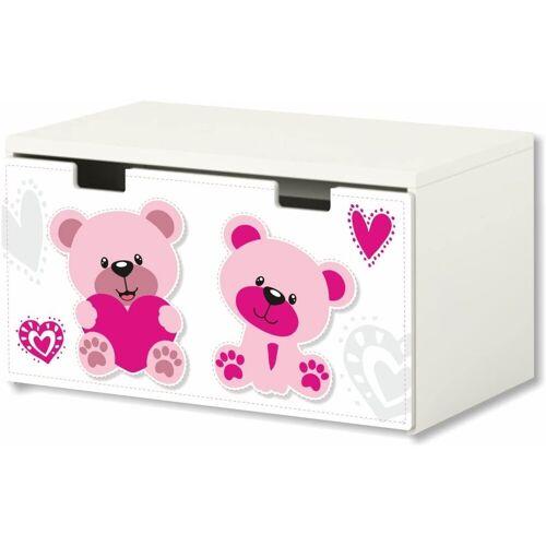 STIKKIPIX Möbelfolie »BT17«, Pink World, Möbelaufkleber mit Pink World-Motiv, passend für die Kinderzimmer Banktruhe STUVA von IKEA (90 x 50 cm) Möbel Nicht Inklusive