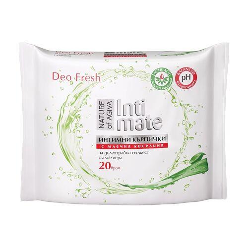 AGIVA Duschtücher »Nature of Intimate Intimtücher mit Milchsäure 20 Stück für lang anhaltende Frische mit Aloe Vera« (20-St)
