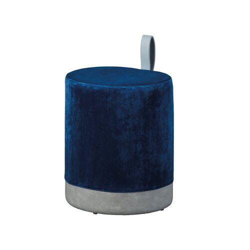ebuy24 Pouf »Osana Fusshocker, Hocker blau und grau.«