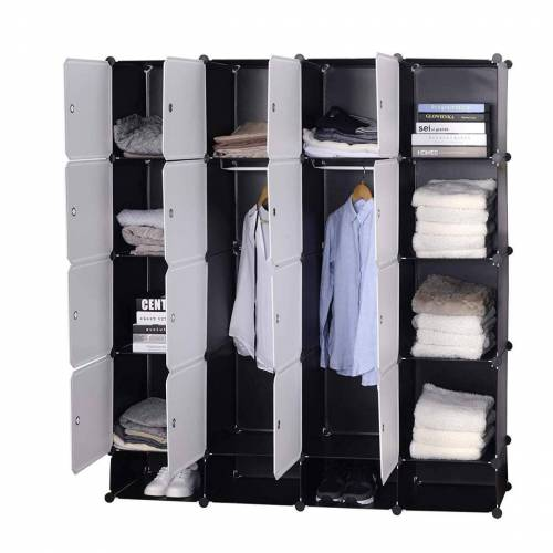 Woltu Kleiderschrank Kleiderschrank Garderobenschrank Mit 2 Kleiderstange