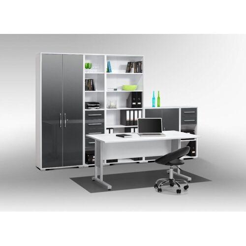 Maja Möbel Büromöbel-Set »MAJA SYSTEM 1200«, in Icy-weiß / grau