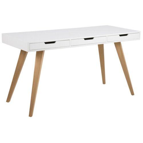ebuy24 Schreibtisch »Ester Schreibtisch mit 3 Schubladen in weiß mit ma«