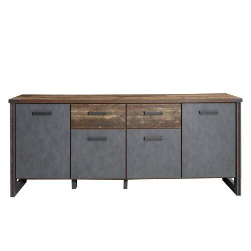 ebuy24 Sideboard »Prip Sideboard 4 Türen und 2 Schubladen, Old Wood«