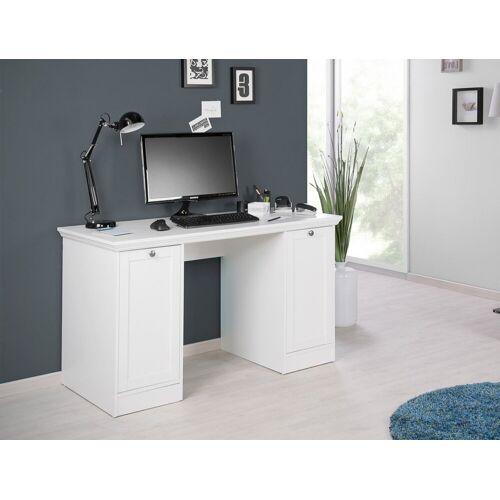 expendio Schreibtisch »Landström 31«, Landhausstil weiß 136x75x63 cm