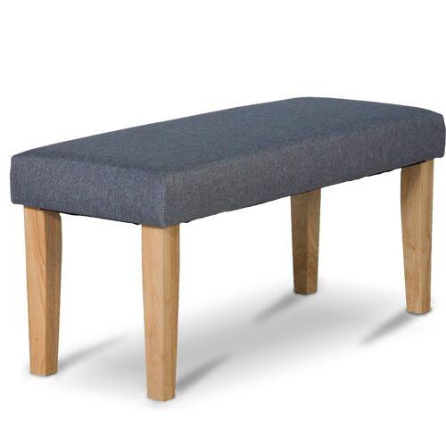 Homestyle4u Polsterbank, graue Sitzbank 103 cm