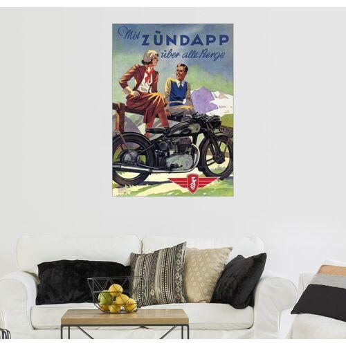 Posterlounge Wandbild, Premium-Poster Mit Zündapp über alle Berge