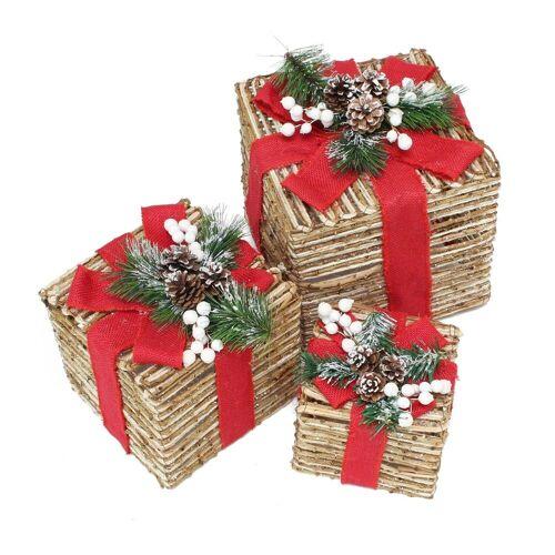 HomeLiving Geschenkpapier »Weihnachtsrot«, Geschenk