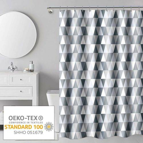 i@home Duschvorhang »mehrere Stile Wannenvorhang Badvorhang Duschabtrennung Badezimmer Vorhänge« Breite 180 cm, Mit Ringe, Dreieck