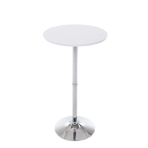 CLP Bartisch »Stehtisch rund«, Durchmesser: Ø 60 cm, weiß matt