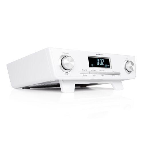 AudioAffairs Radio (UKW, Küchen Unterbau Radio mit Eieruhr inkl. Montagematerial)
