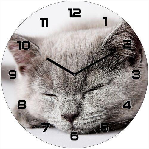 HTI-Line Wanduhr »Wanduhr Katze«