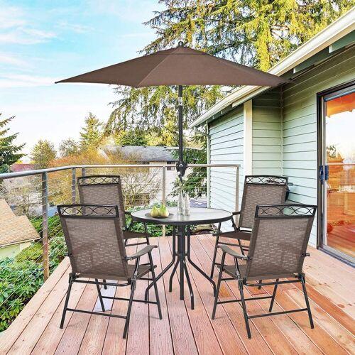 COSTWAY Klappstuhl »Terrassenstühle Hochlehner« bis 120kg belastbar
