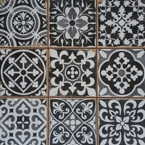 Casa Moro Fliesenaufkleber »Marokkanische Fliesen Rahel Schwarz Patchwork 33x33 cm Retro-Fliesen für Wand und Boden«