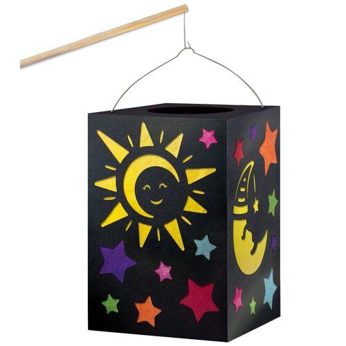 URSUS Papierlaterne »Sonne, Mond & Sterne«, 13 Teile
