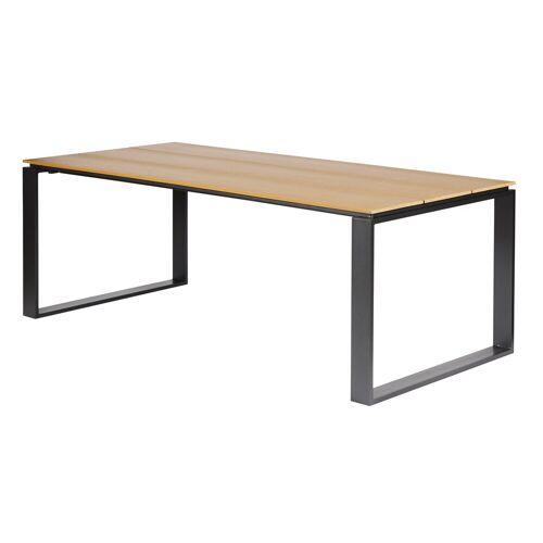 ebuy24 Gartentisch »Martin Gartentisch 210 x 100 cm, schwarz und teak«