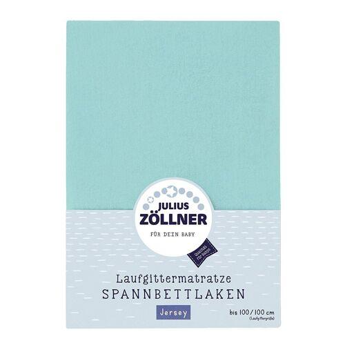 Julius Zöllner Spannbettlaken »anntuch Laufgittermatratze 68/90+95/95 Jersey mint«,