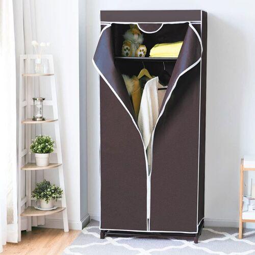 COSTWAY Kleiderschrank »Faltschrank Textilschrank Stoffkleiderschrank«, braun