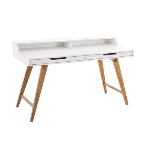 CLP Schreibtisch »Eaton 110 cm«, mit Eichenholzgestell