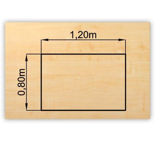 bümö Schreibtisch »OM-PL12«, Schreibtischplatte DIY Tischplatte - Rechteck: 120x80 cm - Dekor: Ahorn, Ahorn