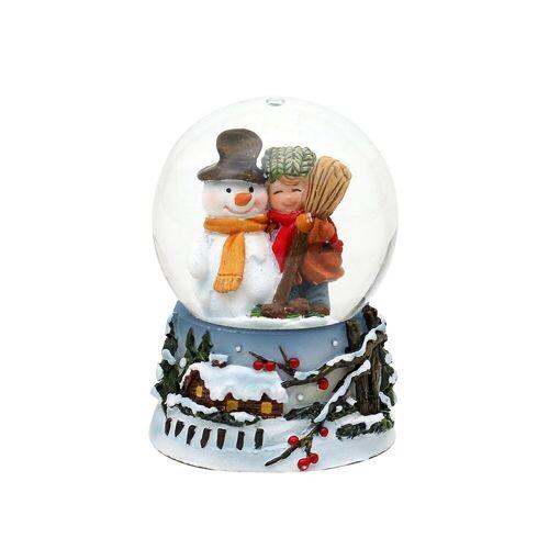 SIGRO Schneekugel »Schneekugel Schneemann mit Kind«