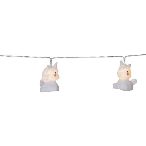 """STAR TRADING LED-Lichterkette »LED Lichterkette """"Unicorn"""" - 10 weiße Einhörner mit warmweißen LED - 1,35m - Batterie - Timer«"""
