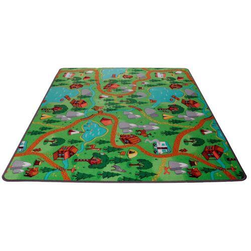 Living Line Kinderteppich »Camping«, , rechteckig, Höhe 7 mm, Straßen-Spielteppich, Camping Motiv