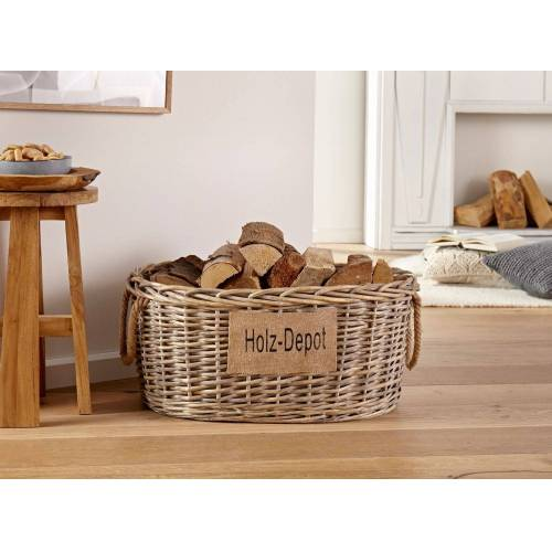 HomeLiving Picknickkorb »Holz-Depot«
