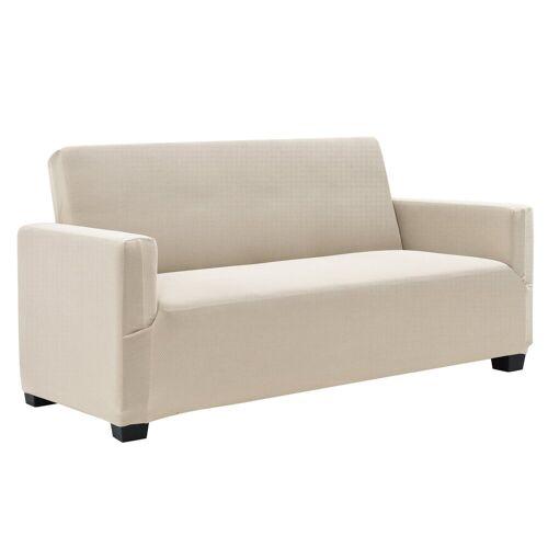 neu.haus Sofahusse, , 120-190cm Sandfarben Sofabezug 2-Sitzer, sandfarben