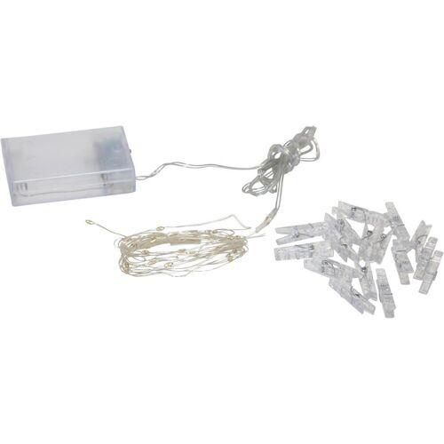 STAR TRADING LED-Lichterkette »LED Clip Lichterkette - 16 transparente Wäscheklammern - 30 warmweiße LED - 2,9m - Batterie - Timer«