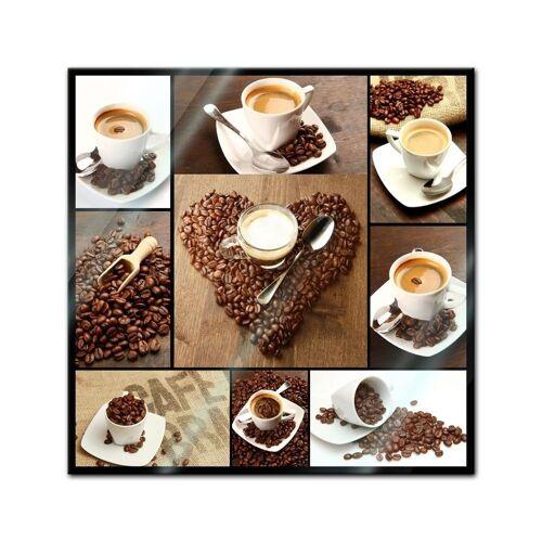 Bilderdepot24 Glasbild, Glasbild - Kaffee Collage