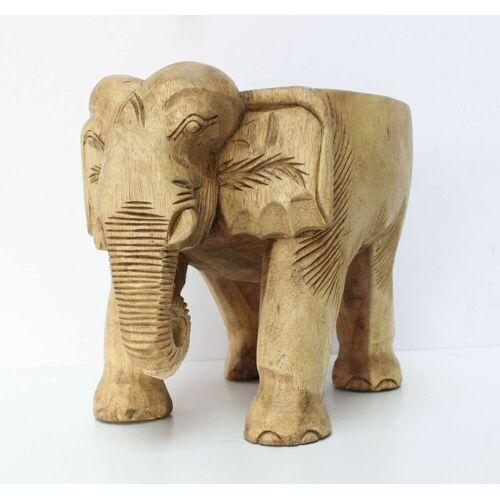 Oriental Galerie Blumenhocker »Elefantenhocker Holz Natur«, Handarbeit
