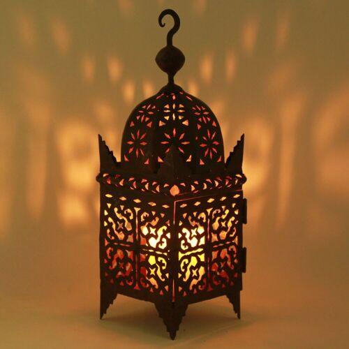 Casa Moro Laterne »Marokkanische Eisenlaterne Firyal H-60 cm edelrost-braun für draußen & Innen, Kunsthandwerk aus Marokko, hängend & stehend, Handmade Gartenlaterne Bodenlaterne, L1648«