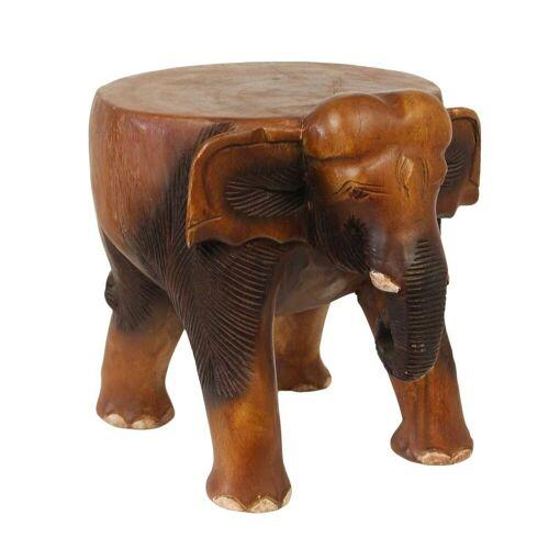Oriental Galerie Blumenhocker »Hocker Elefant 28cm«, Handarbeit